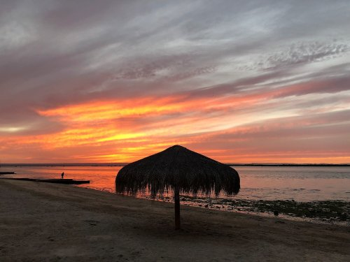 Sunset on the malecon La paz mexico