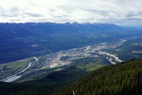 View of Golden BC from Mount 7