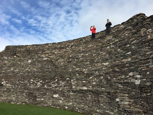 Standing on the massive Cahergall Stone Fort wall