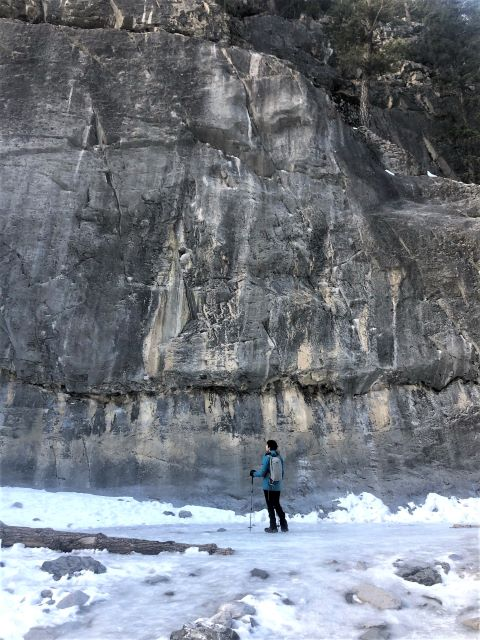 Winter hiking near Canmore