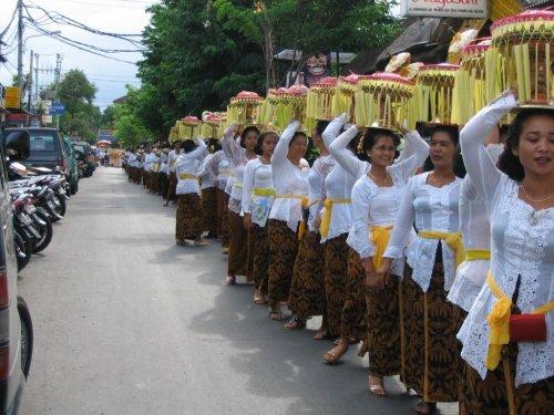 Bali travel women procession