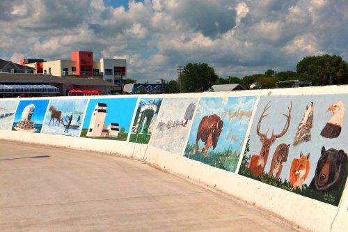 boardwalk mural