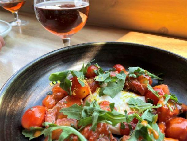 tomato feta salad Three Bears Brewing
