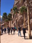 Palm Trees line the Walkway to the Main Entrance at Hoover Dam