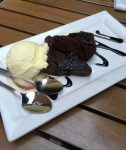 Hot Chocolate Brownie and Ice cream Dessert at Gahan House