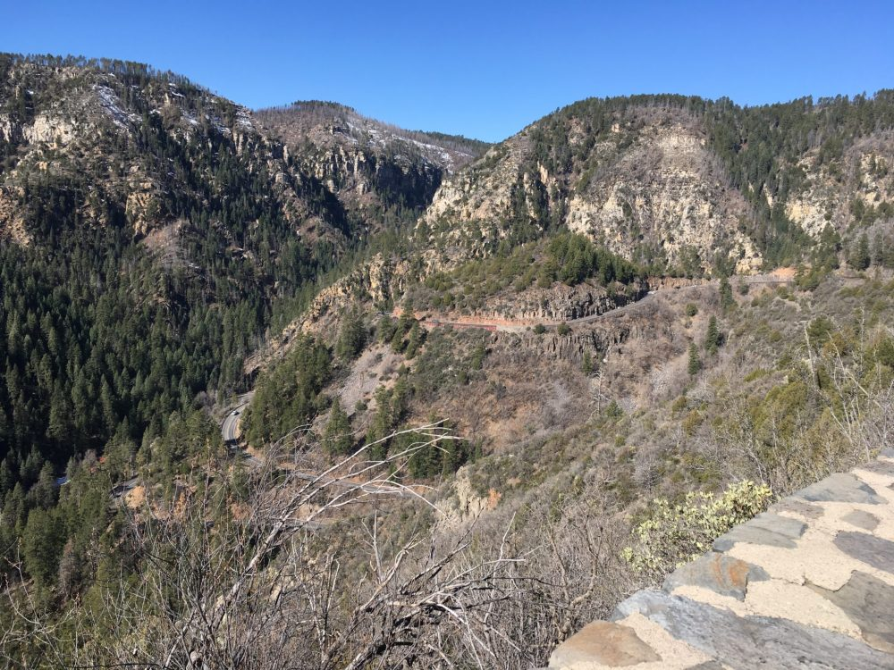 View of Oak Creek Canyon Switchbacks taken from Scenic Look off