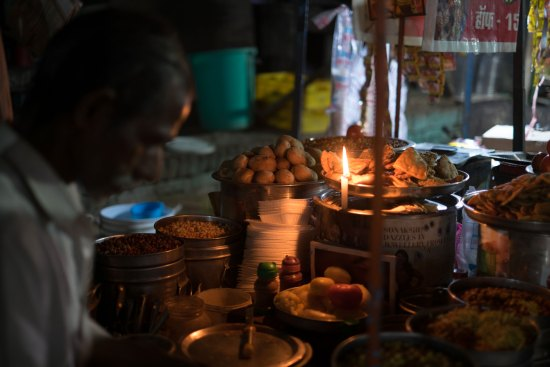 A street food vendor in Varanasi