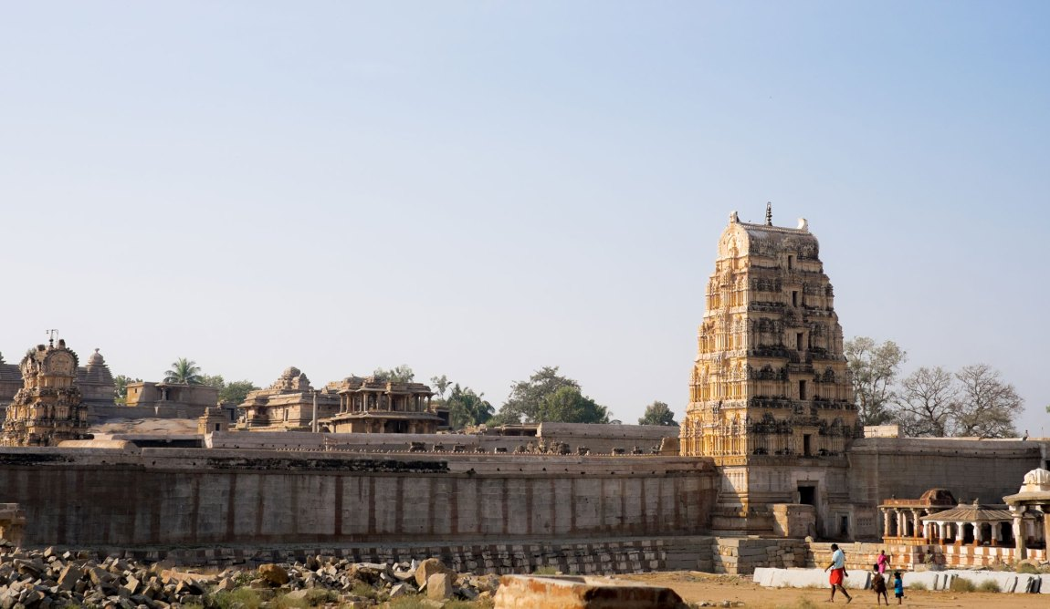 Morning views over Virupaksha Temple.