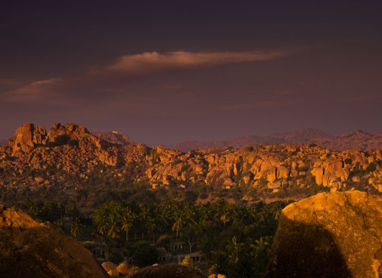 Sunset over Hampi.