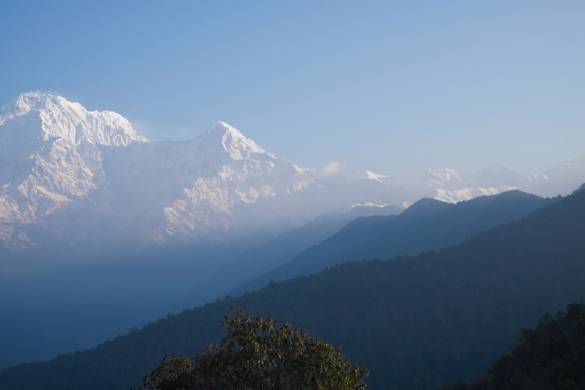 Morning view of Annapurna mountains