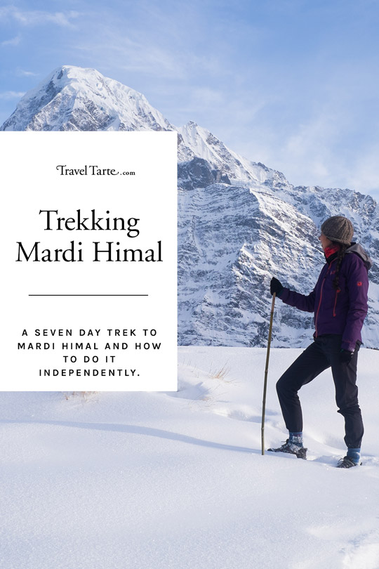 Read about my trek to Mardi Himal in Nepal's Annapurna range. It's a hike filled with rhododendron forests, snowy peaks and stunning vistas across some of Nepal's most stunning landscape. I've included hints and tips for how you can trek there independently too. FInd out all about it at traveltarte.com