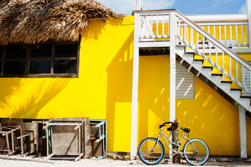 Bicycle in San Pedro, Ambergris Caye Belize