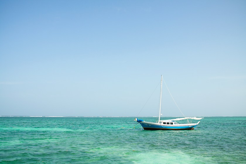 Sailboat on Ambergris Caye
