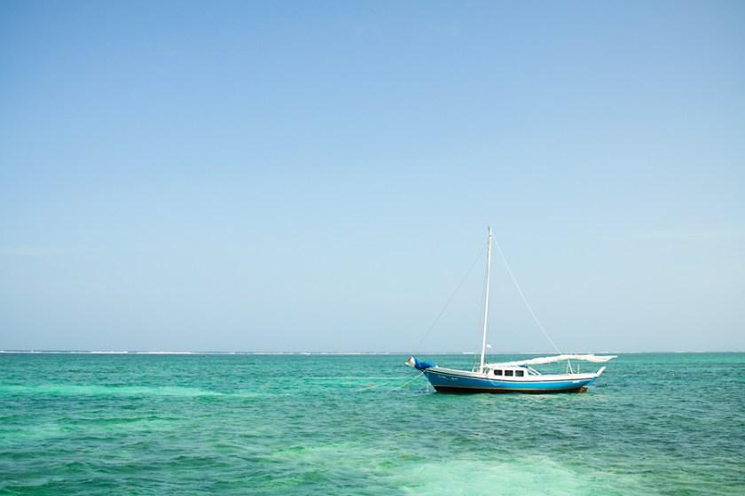 Sailboat on Ambergris Caye