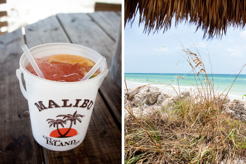 Drink with a view at the Kokonut Hut Tiki in Anna Maria Island