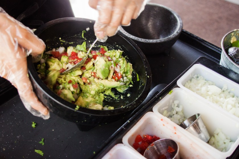 Table side guacamole at Pepe's Cantina, Winter Park FL