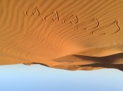 Hearts in the Sahara sand