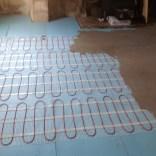 Laying electric matting heating