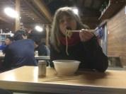 Hot noodle soup.