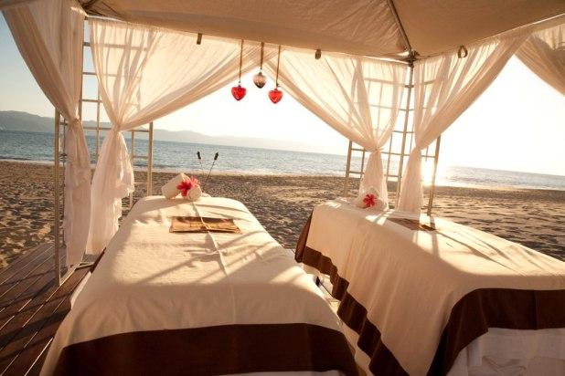 Luxury hotel cabana