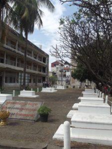 The gravestones of the S21 prison