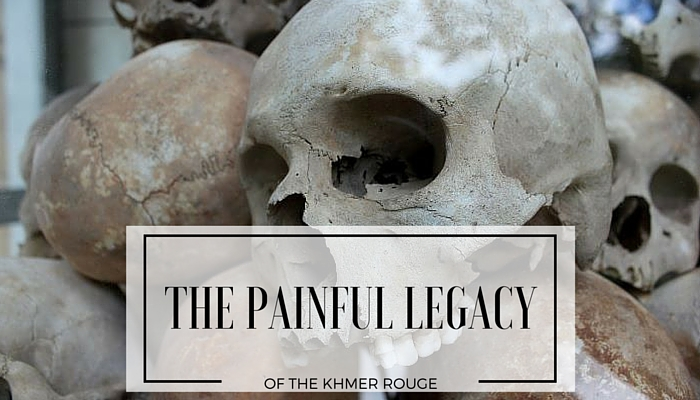 The skulls of the dead in the Killing Fields