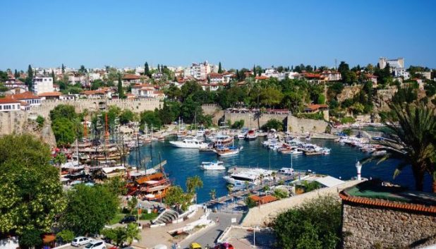 Marina in the old town of Antalya