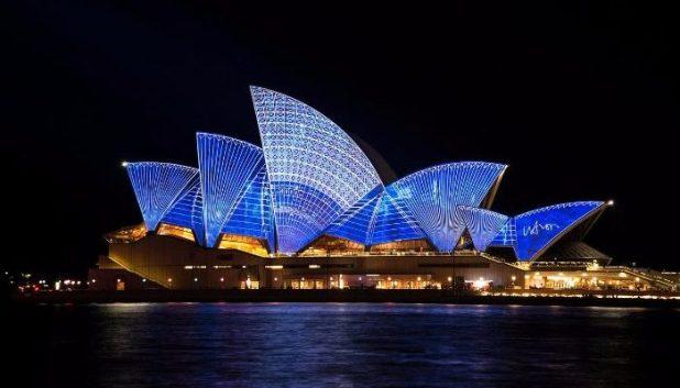 Sydney Opera House illuminated