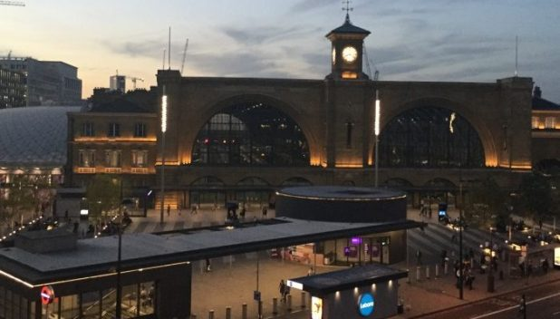 Kings cross station by night
