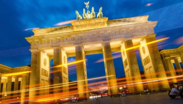 Brandenburg Gate in the dark