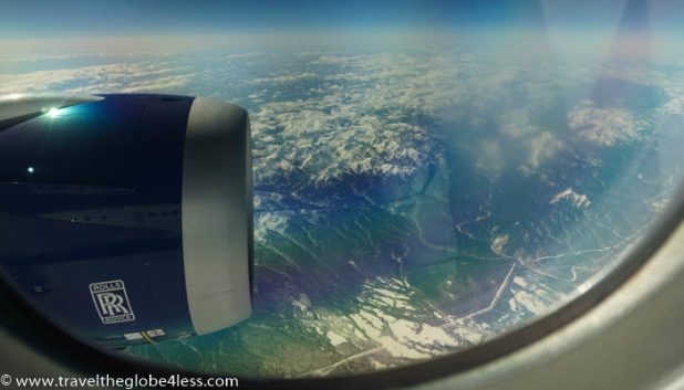 Mountain views from the Dreamliner
