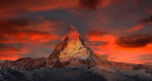 Skiing in zermatt