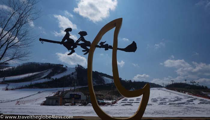 Skiing in Alpensia