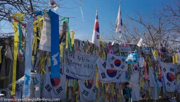 Messages to loved ones at the DMZ