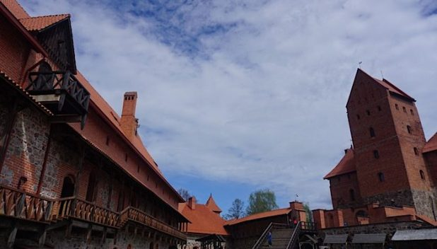 Trakai castle courtyard