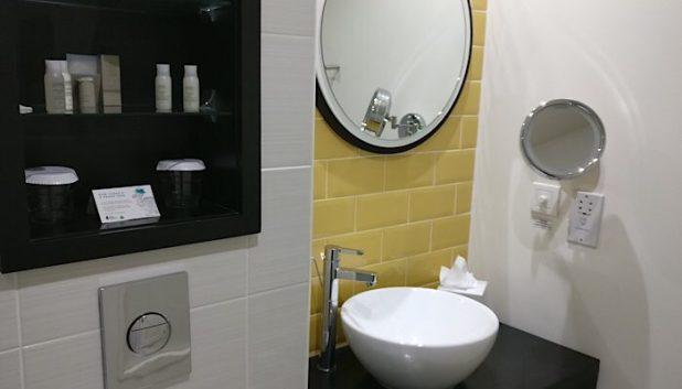 Bathroom at the Hotel Indigo