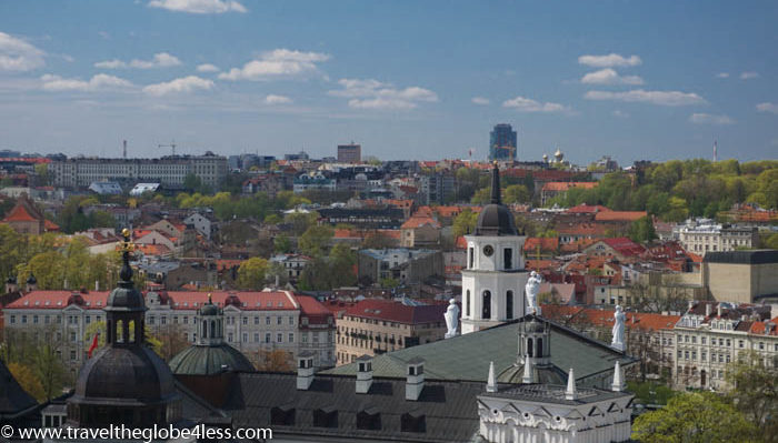 Views of the old town of Vilnius