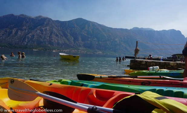 kayaking in Montenegro