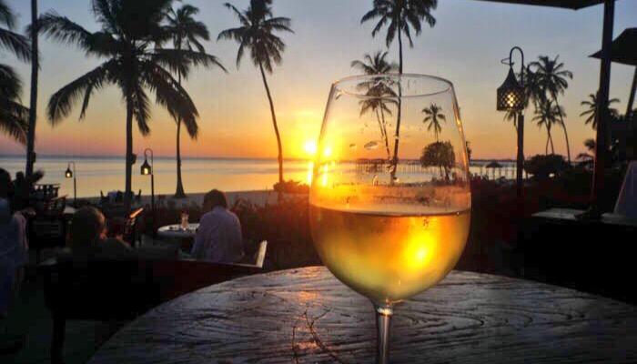 Residence Zanzibar drinks at sunset