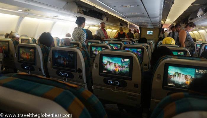 Oman Air cabin