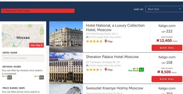 Book Moscow hotels with Kaligo