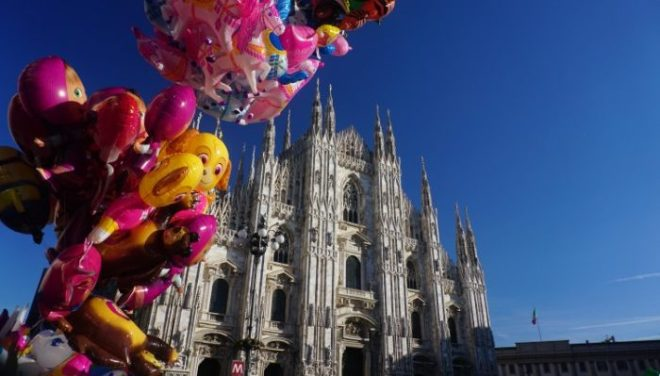 Milan cathedral from the terrace