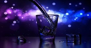Glass in a bar