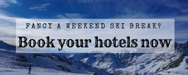 adverts promoting hotels in ski resorts