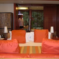 Jason in the bedroom of the Centara, Krabi