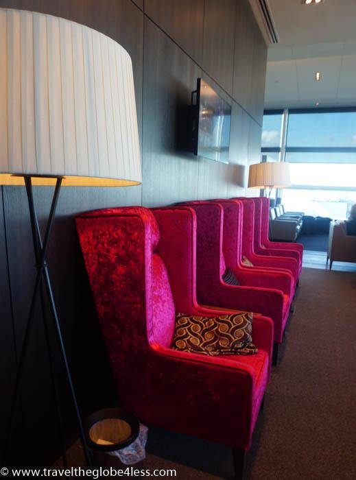 seating at the British Airways Lounge Gatwick