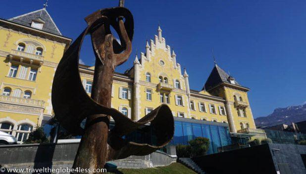 Grand Hotel Billia from the gardens