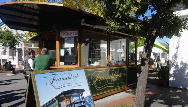 Wine tram meeting place