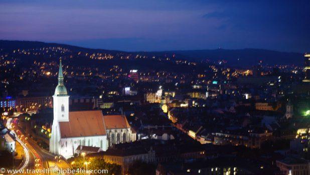Bratislava old town by night