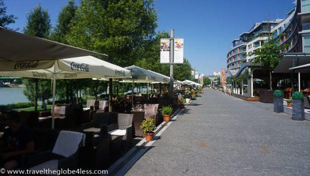 Bratislava riverside walk